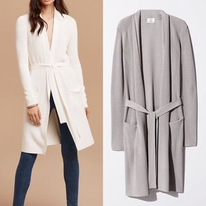 Aritzia Wilfred Torcy Belted Cardigan Sweater